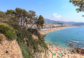 Beachlife in Lloret de Mar.